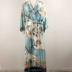 Oscar de la Renta floral lightweight robe 1120B